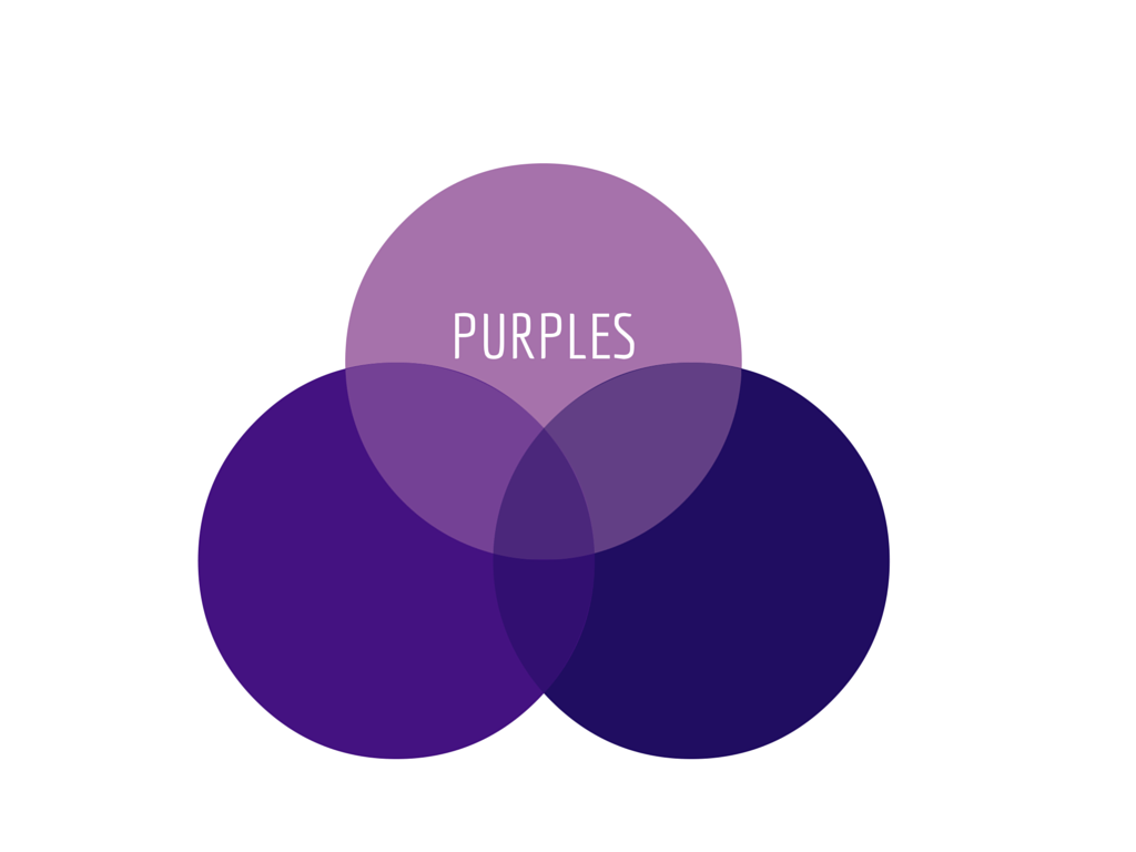 Purple is royal choice due to its dramatic effect.